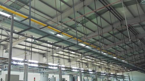 大中塑胶电子安装压缩空气管道项目工程